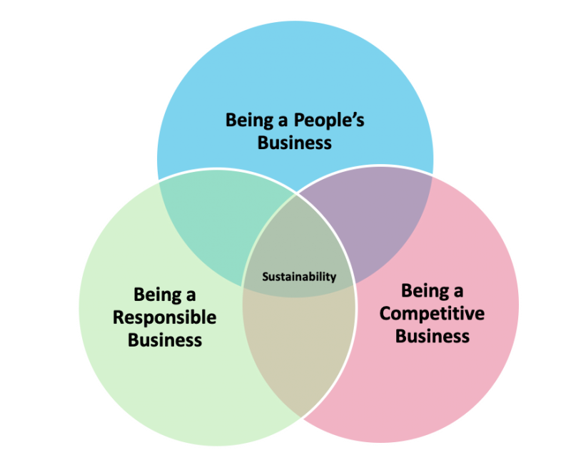Three foundations of sustainability